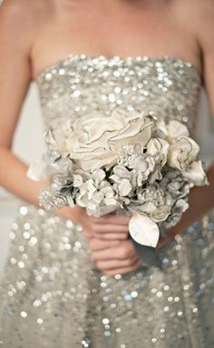 sequin wedding dress bridesmaids