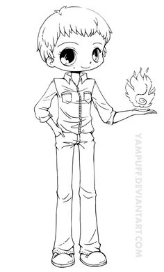 anime chibi boy coloring pages - photo#15
