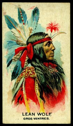 Cigarette Card - Indian Chief, Lean Wolf