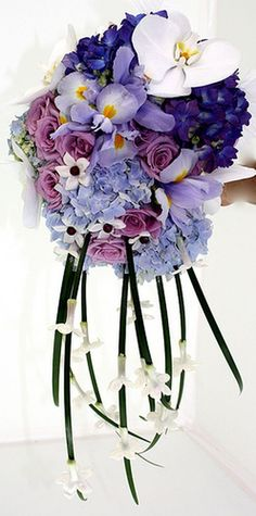 Blue Bridal Bouquets