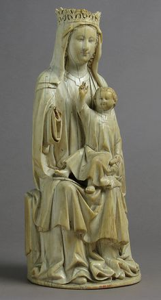 Virgin and Child Date: 14th century Geography: Made in France Culture: French Medium: Ivory, traces of polychromy Accession Number: 17.190.202