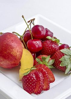 Red Fruits Greeting Card for Sale by Agata Lagati. Our premium-stock greeting cards are x in size and can be personalized with a custom message on the inside of the card. Fruit Preserves, Red Fruit, Breakfast Ideas, Cherry, Strawberry, Food, Beverages, Bebe, Morning Tea Ideas