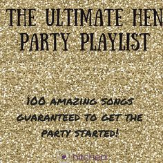 Picked out the perfect hen party idea and printed off lots of fun hen party games? Now all you need is the perfect party soundtrack to get everyone ready for the big night ahead.