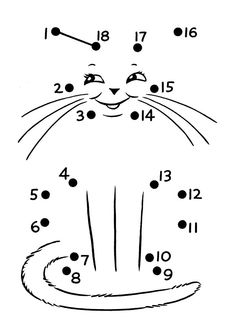 This page has a lot of free printable Animal dot to dot worksheets for kids,parents and preschool teachers Kindergarten Worksheets, Worksheets For Kids, Preschool Activities, Preschool Activity Sheets, Matching Worksheets, Cat Activity, Pre K Activities, Learning Activities, Dot To Dot Printables