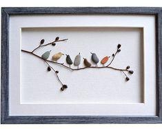 Kieselstein Kunst Liebe Vögel romantische von PebbleArtDream