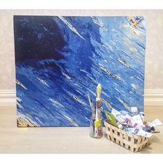 318 отметок «Нравится», 5 комментариев — Varvara&Linda (@artpotion.gallery) в Instagram: «'Mystery of blue', acrylics on canvas, 60x70cm. #art #artflowsessions #abstractart…»