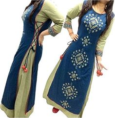 Experience the best of east-meets-west & north-meets-south with these party wear Kurtis with us. Latest Kurti Designs help you stick to your Indian fashion styling sense while staying modern at the same time. Salwar Designs, Kurti Designs Party Wear, Blouse Designs, Latest Kurti Designs, Kurta Designs Women, Indian Dresses, Indian Outfits, Trendy Dresses, Dresses For Work