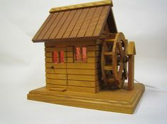 Free Shipping Lovely Mini Water Mill Room by ShozanWoodCarving, ¥32000