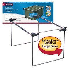 Smead® Hanging File Folder Gram, Adjustable Letter/Legal/A4, Gray, 2/Pack (64855)