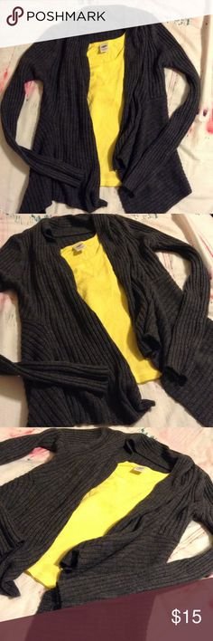 Chunky knitted cardigan Charcoal gray color. Excellent condition Charlotte Russe Sweaters Cardigans