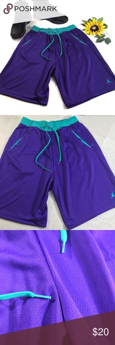 196c1e96946ab0 Air Jordan flight shorts men s large grape aqua Jordan shorts in excellent  condition Aqua grape colors