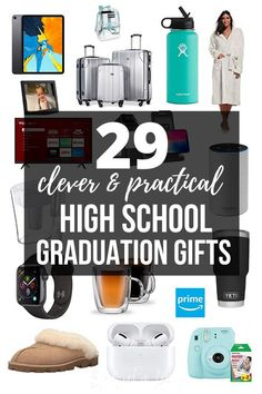 Are you looking for a thoughtful gift to get the graduate? These are the most popular high school graduation gifts of 2019 that the graduate will love. Outdoor Graduation Parties, Unique Graduation Gifts, Graduation Party Planning, High School Graduation Gifts, Graduation Party Decor, Graduate School, Grad Parties, Grad Party Decorations, Graduation Party Centerpieces