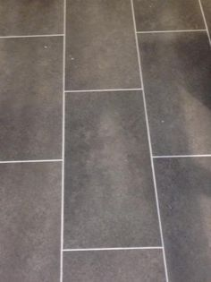 Groutable Vinyl Tile In Bathroom