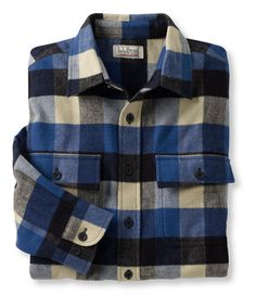 Bean's Chamois Cloth Shirt, Traditional Fit Plaid: Flannel, Chamois and Lined | Free Shipping at L.L.Bean