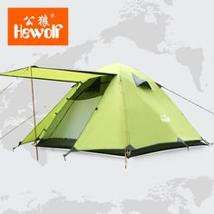 87.57$  Watch now - http://alibmg.shopchina.info/go.php?t=32813207348 - Double Layer 3 4 Person Tents Rainproof Waterproof Outdoor Camping Tent Tourist Tent For Hunting Picnic Party Hiking Camping  #shopstyle
