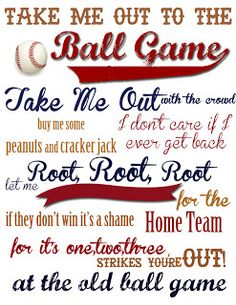 Baseball Boys Room Take Me Out to the Ball Game {With FREE Printable!} - A Mouse In My Kitchen