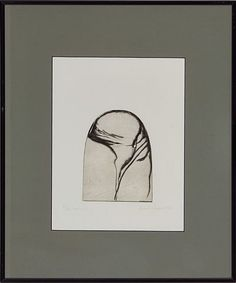 """Zdenka Rusova, """"Form IV"""" 1982 Radering, cm Signert og datert nede til høyre… Kunst"""
