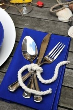 beach wedding cutlery rope tied brides of adelaide magazine