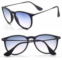 fe752c07e44 Ray Ban RB4171 Black Gradient Blue Lens Erika Sunglasses Unisex Accessories  NEW