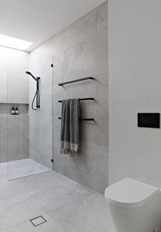 Bathroom Layout, Modern Bathroom Design, Bathroom Interior Design, Bathroom Cabinets, Bathroom Mirrors, Stone Bathroom, Bathroom Designs, Modern Bathrooms, White Bathroom