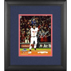 """Dustin Pedroia Boston Red Sox Fanatics Authentic Framed Autographed 8"""" x 10"""" 2013 World Series Champions Arms Up Photograph - $231.99"""