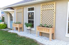 How to build a DIY raised planter with trellis Planter Box With Trellis, Raised Planter Boxes, Diy Planter Box, Diy Planters, Garden Planters, Outdoor Planter Boxes, Diy Trellis, Cedar Fence Pickets, Raised Garden Beds