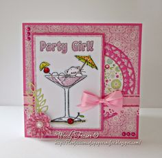 Wendy: Fraser: Confessions of a Papersniffer: Party Girl - 8/25/14  (Strawberry Kisses stamp)