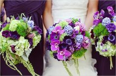 A Vintage Wedding: Vintage Romantic Purple & Green Wedding
