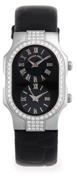 Diamond & Stainless Steel Dual Dial Watch #watches #womens