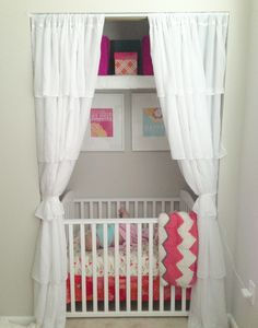Closet nursery in our little townhouse...sometime's you have to do with the space you have.  :)