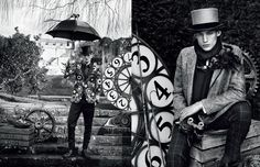 Classic suits in an eccentric fashion journey are delivered in the latest shoot by Fast Management photographer Diego Merino for Harrods Magazine, styled by Victoria Gaiger.