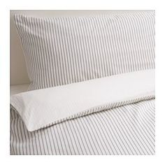 IKEA RÖDNARV Quilt cover and 4 pillowcases Stripe/white cm Sateen-woven bedlinen in cotton is very soft and pleasant to sleep in, and has a.
