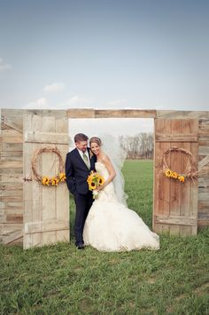 ceremony backdrops doors as a unique decoration or ceremony backdrop. There are many ways to use weathered, antique, or painted doors as. Outside Wedding, Farm Wedding, Wedding Bells, Wedding Ceremony, Dream Wedding, Outdoor Ceremony, Barn Door Wedding, Wedding Entrance, Ceremony Backdrop