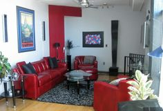House Tour: Joe's Art Deco Loft and Garden Red Couch Living Room, Living Room Decor, Art Deco Design, Apartment Therapy, House Tours, Red Couches, Interior Design, Art Nouveau, Decorating