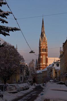 Graz in winter Vienna Woods, Graz Austria, Cultural Capital, Winter Images, Snowy Day, Classical Architecture, Central Europe, Salzburg, Kirchen