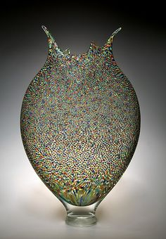 Pointillist Foglio: David Patchen: Art Glass Vessel | Artful Home