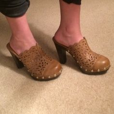Nadara clogs Size 7.5. True to size. Never worn. Some wear at the toe as pictured Nadara Shoes Mules & Clogs
