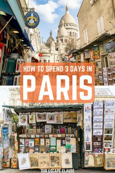 Looking for the perfect 3 days in Paris itinerary? Explore everything from highlights like the Eiffel Tower to lovely neighborhoods like Montmartre. Saint Germain, St Germain Paris, Europe Travel Tips, Travel Guides, Travel Packing, Europe Packing, Backpacking Europe, Packing Lists, Paris Travel