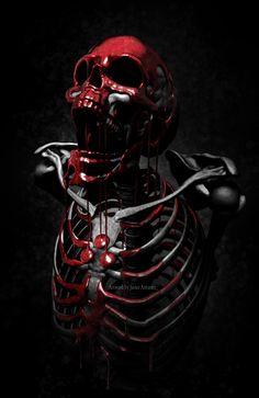 Artwork, Apparel and more by artist Javier Antunez; specializing in realism, fantasy, and dark art. Arte Horror, Horror Art, Graffiti 3d, Grim Reaper Art, Skull Reference, Beautiful Dark Art, Totenkopf Tattoos, Skull Artwork, Skull Wallpaper