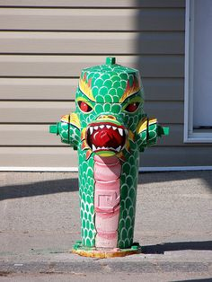 Dragon fire hydrant in Tweed, Ontario