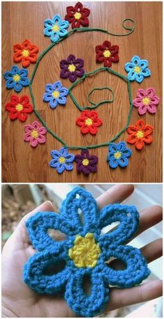 Free Crochet Spring Flower Garland Pattern - Crochet Garland Pattern - 73 Free Crochet Garland Ideas - DIY & Crafts