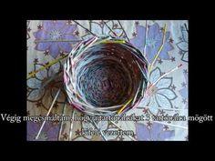 35 Kör alakú kosár hármas gyűrűvel fonva - YouTube