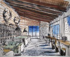 Горнолыжный курот by Takk Interior Design, via Behance