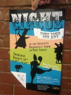 A poster we did for a benefit event called Night Circus - such a great event! Function events did a great job that night - http://www.functionevents.ca