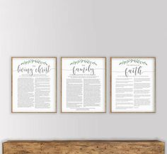 The Family Proclamation, The Living Christ and The Articles of Faith Set, Modern LDS Printable Set