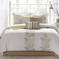6-Piece Caelie Coverlet Set in Yellow