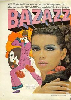 Max Factor Bazazz! Mademoiselle, November 1966.