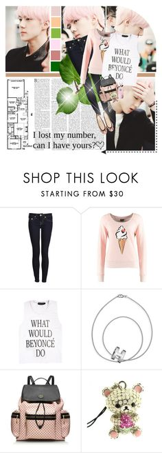 """""""Sehunnie; Pink"""" by seoulmate00 ❤ liked on Polyvore featuring True Religion, ONLY, Hermès, Tory Burch, ...Lost, kpop, EXO, exok and Sehun"""