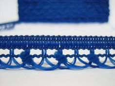 5 Yards Royal Blue Looped Braid Loop trim pom pom by ichimylove