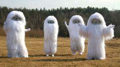 "Crazy fluffy Yeti monsters for ""Pictoplasma"" festival in Berlin 2011. Costumes by Werkstattkollektiv"